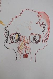 Ein Strauß Tulpen entsteht (c) Zeichnung von Susanne Haun