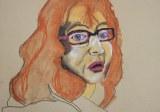 Entstehung des Ich - Haare - Pastell - 30 x 40 cm (c) Zeichnung von Susanne Haun