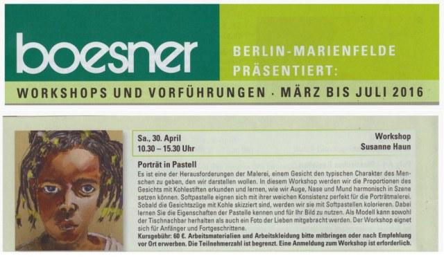 Boesner Workshop Portrait in Pastell - Susanne Haun