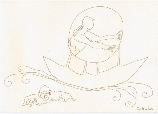 #55.1 Nullkralle (c) Zeichnung von Susanne Haun