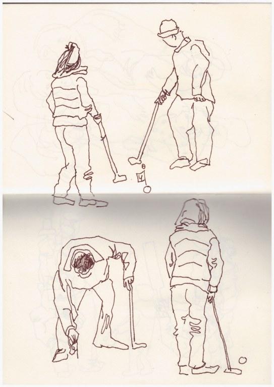 1. Skizzenbuch Cromer (c) Zeichnung von Susanne Haun