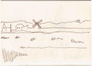 Cley next the sea (c) Zeichnung von Susanne Haun