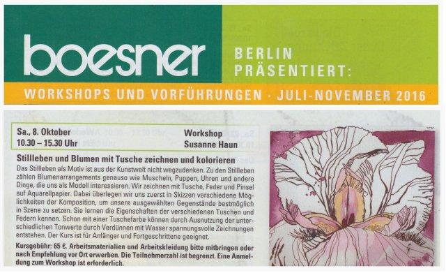 2016 Workshop Stillleben bei Boesner - Susanne Haun