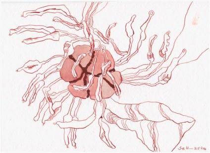 #63.1 Die Obzönität der Null (c) Zeichnung von Susanne Haun