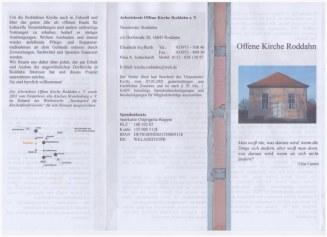 Offene Kirche Roddahn - Flyer Außenseite