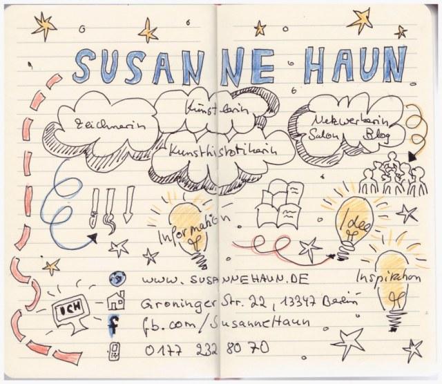 Kontakt Susanne Haun (c) Sketchnote Susanne Haun