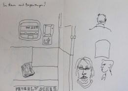 In der S-Bahn(c) Zeichnung von Susanne Haun