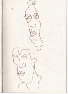 3 Aus meinem Skizzenbuch - im Kolbe Museum (c) Zeichnung von Susanne Haun