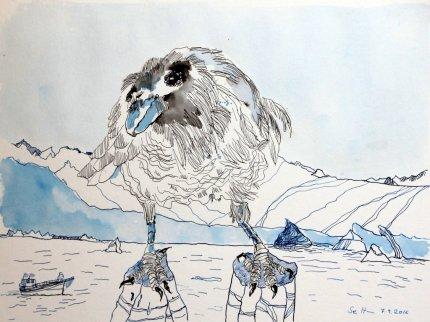 3 Sila ist die Luft, die Kraft des Denkens und der Weisheit (c) Zeichnung von Susanne Haun