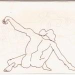 4 Aus meinem Skizzenbuch - im Kolbe Museum (c) Zeichnung von Susanne Haun