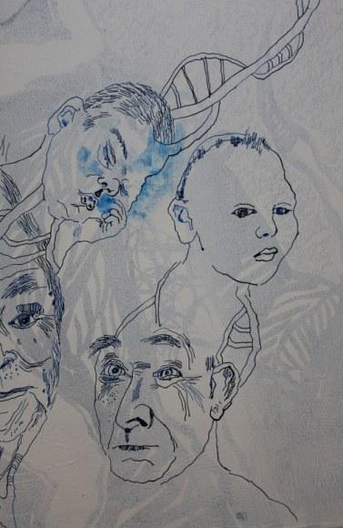 4 Detail Die Unglückseligen - 80 x 60 cm (c) Leinwand von Susanne Haun