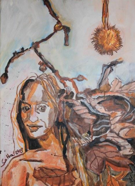 Der Herbst - Tusche auf Leinwand - 50 x 70 cm - 2008 (c) Zeichnung von Susanne Haun