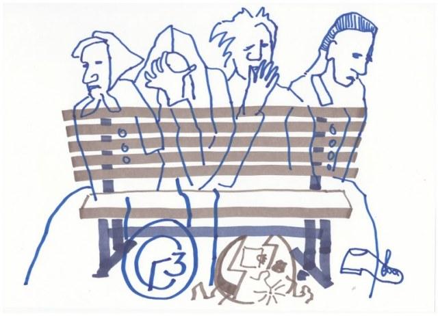 3 Die Kuechenuhr - sie sahen ihn nicht an (c) Zeichnung von Susanne Haun
