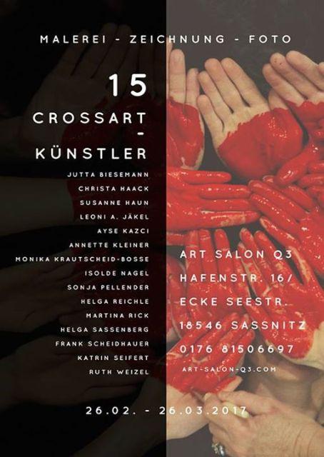 15 Crossart-Künstler auf Rügen, Sassnitz in der Galerie ART SALON Q3