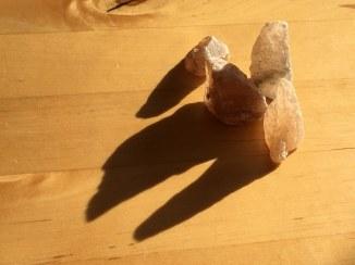 Salzkristalle - Beute von der ITB (c) Foto von M.Fanke