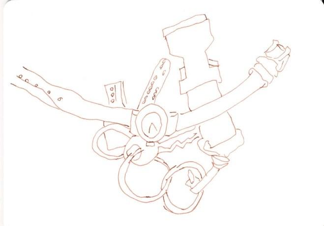 Schlüsselbund und Uhr (c) Zeichnung von Susanne Haun