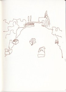 Spaziergang Brandenburg an der Havel (c) Zeichnung von Susanne Haun