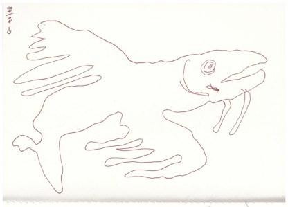 Eiswelten - Fliegende Fische (c) Zeichnung von Susanne Haun