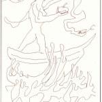 Eva und die Sinnflut haben nichts miteinander zu tun (c) Zeichnung von Susanne Haun