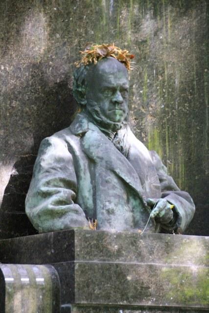 Friedhof Bergmannstr. Berlin Kreuzberg, Adolf Menzel (c) Foto von Susanne Haun