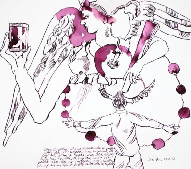 Mein Engelchen, ich sage Dir nichts ist perfekt aber alles ist möglich! (c) Zeichnung von Susanne Haun