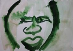 Selbstportrait für Jürgen - 2 - 60 x 40 cm – Tusche auf Skizzenpapier (c) Zeichnung von Susanne Haun