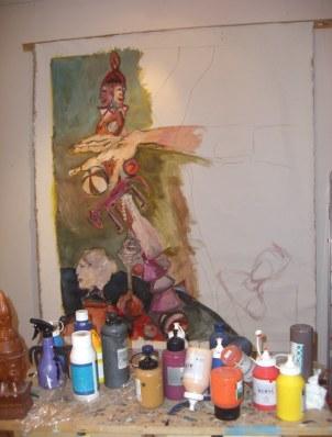 2007 - Arbeit an Rückseite der Lebensstufen der Frau (c) Foto von Susanne Haun
