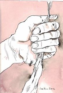 Um das Gute mit der Wurzel auszureißen (c) Zeichnung von Susanne Haun