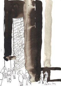 Die glatten Leute kommen nie zur ruh (c) Zeichnung von Susanne Haun