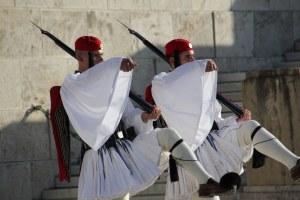 Athen Wachablösung vor dem Parlament (c) Foto von Susanne Haun