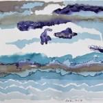 Der Himmel wartet, doch die Erde verlangt... - 30 x 40 cm - Tusche auf Aquarellkarton (c) Zeichnung von Susanne Haun (2)