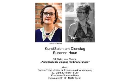 Einladung 16. Kunstsalon Susanne Haun - Gast Doreen Trittel