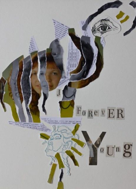 Forever Young - 30 x 40 cm - 2018 (c) Collage von Susanne Haun