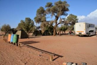 Auch in der Wüste wird der Muell getrennt - Camp Site Sossusvlei (c) Foto von Susanne Haun
