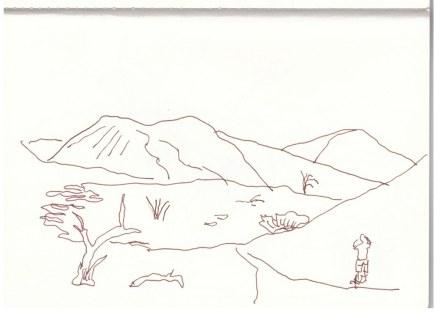 Namib Wüste - Sossusvlei (c) Zeichnung von Susanne Haun