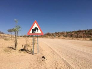 Vorsicht Elefanten - Spaziergang um den Spitzkoppe (c) Foto von Susanne Haun