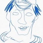 Portrait Nr. 14 (c) Zeichnung iPad von Susanne Haun