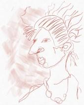 Portrait Nr. 5 (c) Zeichnung iPad von Susanne Haun