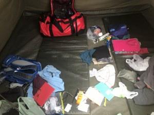 Am liebsten hätte ich jeden Tag im Zelt meine Sachen sortiert (c) Foto von Susanne Haun