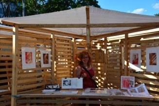 Präsentation des Standes von Susanne Haun auf dem Weddingmarkt (c) Foto von M.Fanke