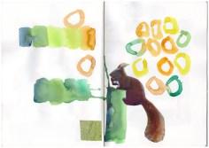 Skizzenbuch, Landtiere und Farben, Zeichnung von Susanne Haun (c) VG Bild-Kunst, Bonn 2019