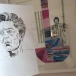 Entstehung der Collage Karajan, 30 x 40 cm, 2019, Zeichnung von Susanne Haun (c) VG Bild-Kunst, Bonn 2019