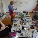 Workshop Radierung im Atelier – Dozentin Susanne Haun (c) VG Bild Kunst, Bonn 2019