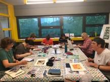 Impressionen vom Linolsschnitt Workshop Graphothek Berlin Mai 2019, Foto von Susanne Haun
