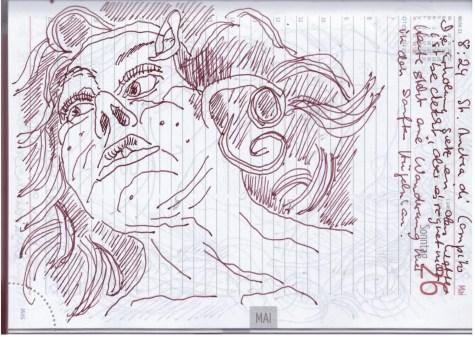Selbstbildnisstagebuch 21.5. - 12.6.2019, Zeichnungen von Susanne Haun (c) VG Bild-Kunst, Bonn 2019Selbstbildnisstagebuch 21.5. - 12.6.2019, Zeichnungen von Susanne Haun (c) VG Bild-Kunst, Bonn 2019