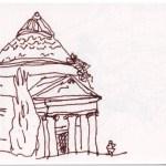 Toskana, Skizzenbuch 4, Bagni di Lucca, Zeichnung von Susanne Haun (c) VG Bild-Kunst, Bonn 2019