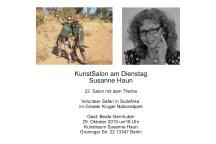 Einladung Salon Beate Gernhuber bei Susanne Haun