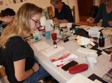 Adventworkshop im Atelier (c) Foto von Susanne Haun