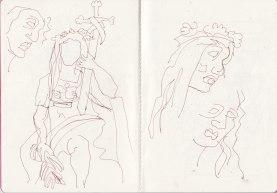 Skizzenbuch 19.11.19 - 4.1.2020, Zeichnung von Susanne Haun (c) VG Bild-Kunst, Bonn 2020