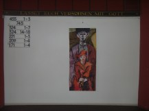 Ausstellungsansicht Kirche im Tempelhofer Feld, Berlin, Vater und Tochter, Gemälde von Susanne Haun (c) VG Bild-Kunst, Bonn 2020